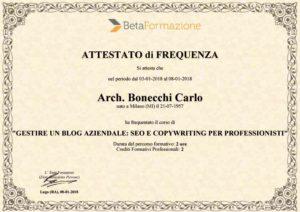 studio architettura a Abbiategrasso Bonecchi Carlo gestire un blog aziendale