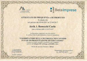 studio architettura a Abbiategrasso Bonecchi Carlo, coordinatore sicurezza cantieri